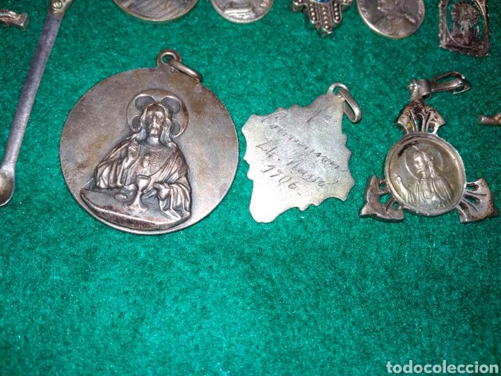 Joyeria: Expectacular lote antiguos colgantes la mayoria de plata - Foto 9 - 142832306