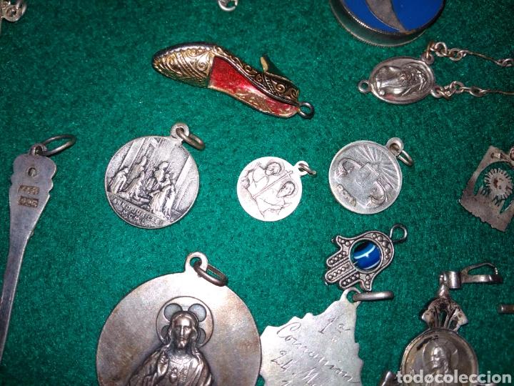 Joyeria: Expectacular lote antiguos colgantes la mayoria de plata - Foto 10 - 142832306