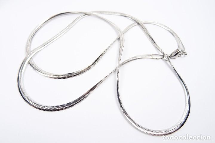 Joyeria: Cadena en plata 925 eslabón tipo sirga planchada - Foto 2 - 142839166