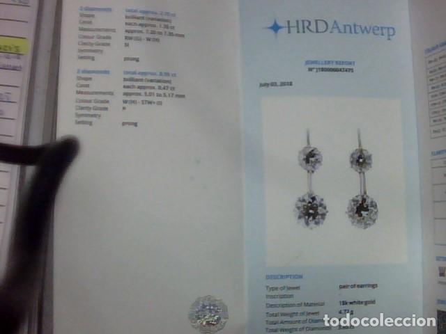 Joyeria: pendientes oro 18 kl y diamantes - Foto 2 - 143689002