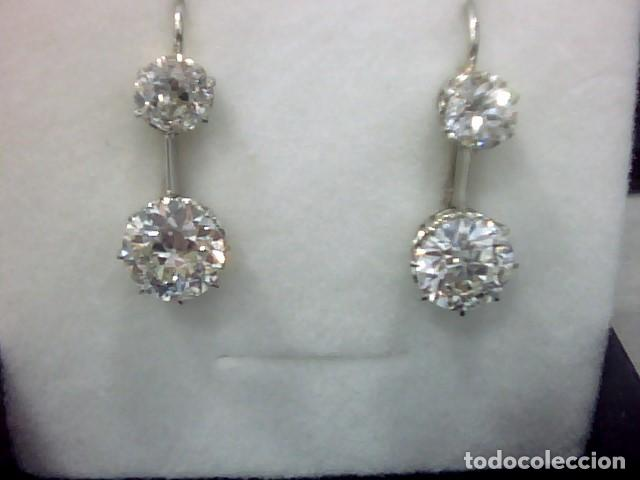 Joyeria: pendientes oro 18 kl y diamantes - Foto 4 - 143689002