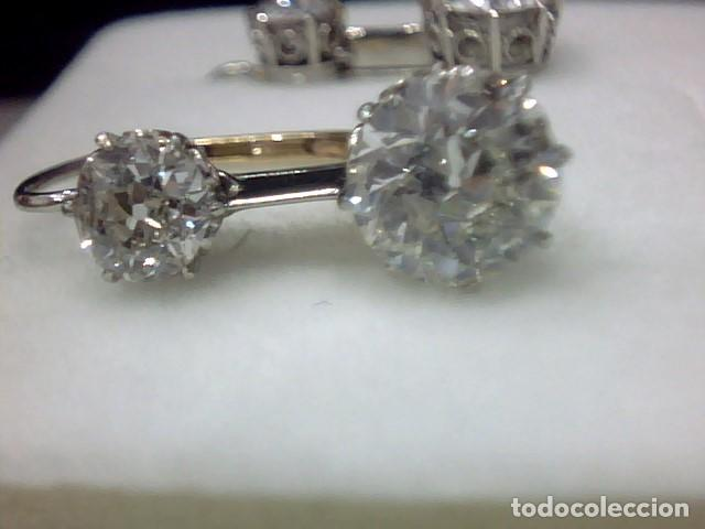 Joyeria: pendientes oro 18 kl y diamantes - Foto 6 - 143689002