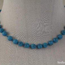 Joyeria - collar turquesas y oro 14k, g.f. - 144819270