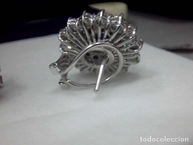 Joyeria: juego de anillo y pendientes oro blanco 18 kl y diamantes - Foto 8 - 144820898
