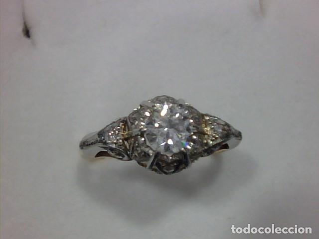 Joyeria: anillo en oro 18 kl y platino con diamantes - Foto 2 - 144824758