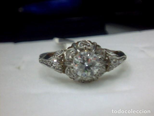 Joyeria: anillo en oro 18 kl y platino con diamantes - Foto 4 - 144824758