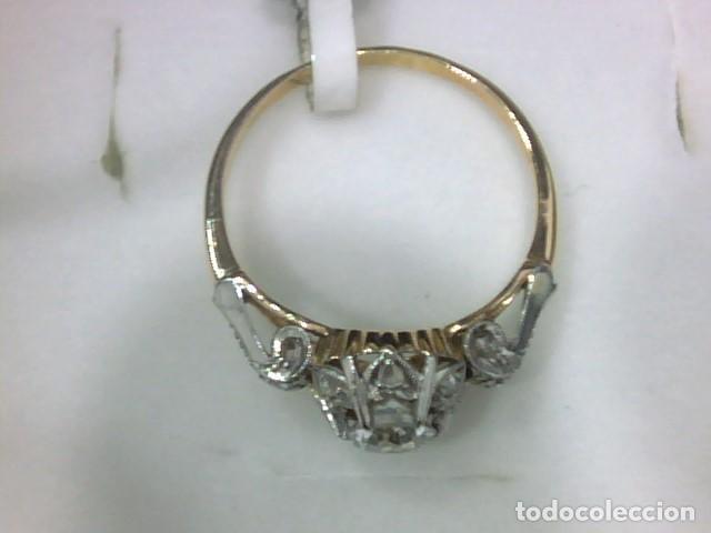 Joyeria: anillo en oro 18 kl y platino con diamantes - Foto 5 - 144824758