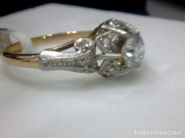 Joyeria: anillo en oro 18 kl y platino con diamantes - Foto 7 - 144824758