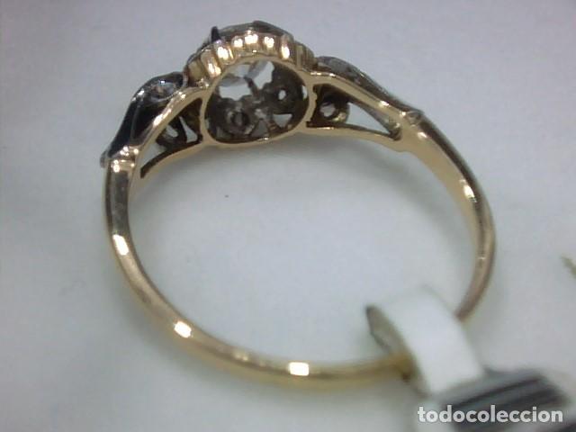 Joyeria: anillo en oro 18 kl y platino con diamantes - Foto 8 - 144824758