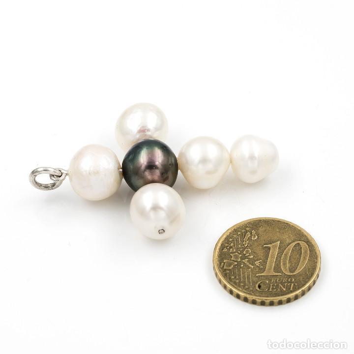Joyeria: Colgante Cruz de Perlas Cultivadas Naturales con Forma Barroca - Foto 4 - 145055746