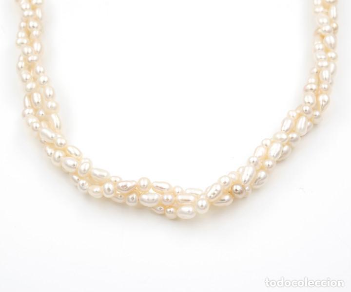 Joyeria: Collar Perlas Blancas y Oro de Ley 18k - Foto 3 - 145058322