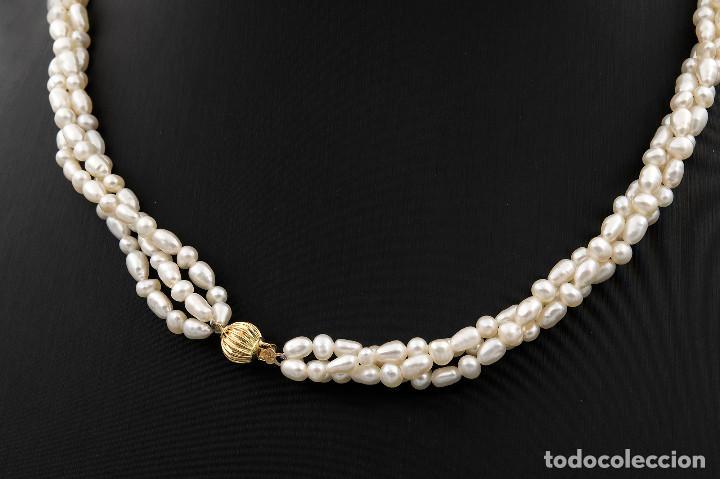 Joyeria: Collar Perlas Blancas y Oro de Ley 18k - Foto 4 - 145058322