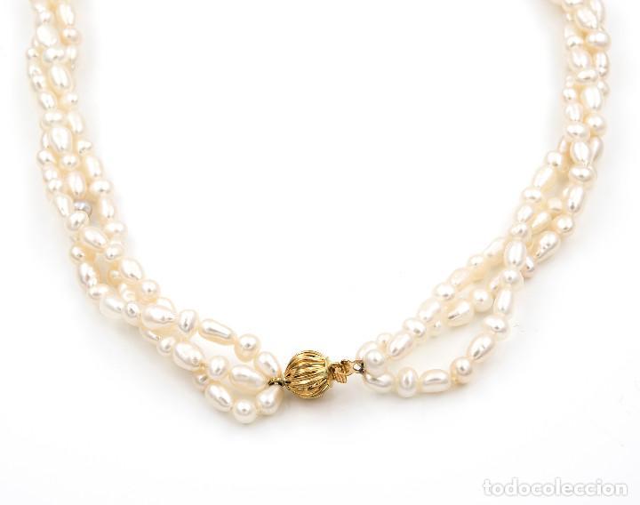 Joyeria: Collar Perlas Blancas y Oro de Ley 18k - Foto 5 - 145058322