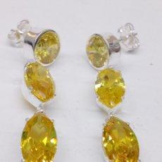 Jewelry - Pendientes plata y piedras citrino - 145063292