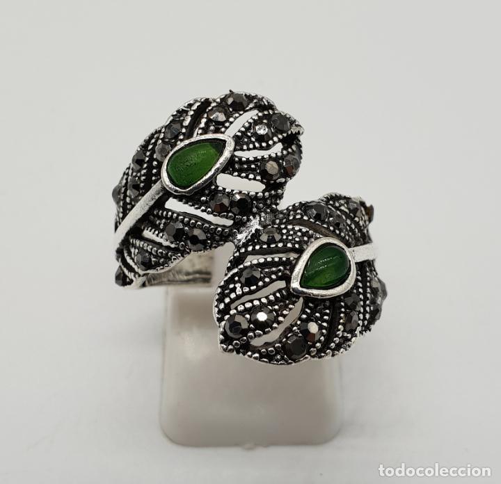 ffc575cc9a53 anillo tipo vintage con forma de plumas de pavo - Comprar Anillos ...