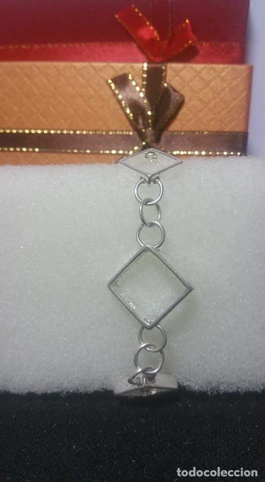Joyeria: Pulsera / de cadena simple y cuadrados / EN PLATA 925 ¡¡ PESA 14 GRAMOS ¡¡ - Foto 4 - 143050378