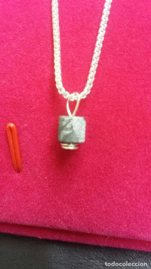 Joyeria: Colgante de meteorito Seymchan forma cilíndrica - Foto 7 - 132405018