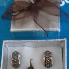 Jewelry - Conjunto pendientes y sortija oro 14 y marcasitas - 145490030
