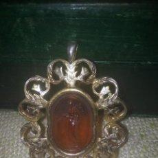 Schmuck - Antiguo colgante de plata bañada con camafeo de cristal de Murano - 145564302