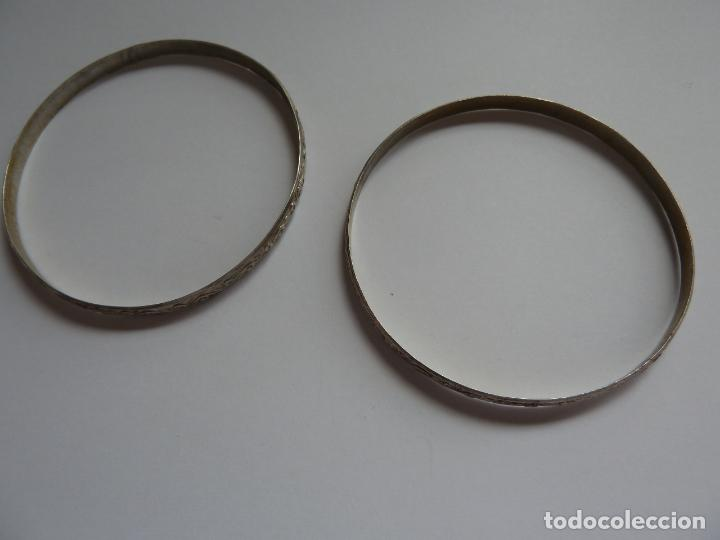 2 PULSERAS. BRAZALETES DE PLATA (Schmuck - Antike Armreifen)