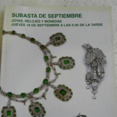 Joyeria: SUBASTAS SEGRE - SUBASTA DE JOYAS, RELOJES Y MONEDAS SEPTIEMBRE 2014. Lote 145845274
