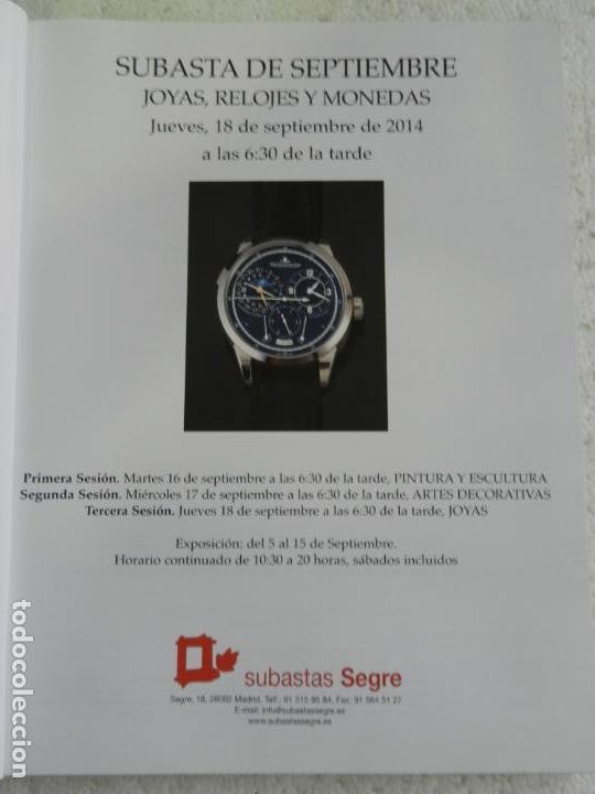 Joyeria: SUBASTAS SEGRE - SUBASTA DE JOYAS, RELOJES Y MONEDAS SEPTIEMBRE 2014 - Foto 2 - 145845274