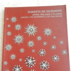 Joyeria: SUBASTAS SEGRE - SUBASTA DE JOYAS, RELOJES Y PLUMAS DICIEMBRE 2015. Lote 145845822