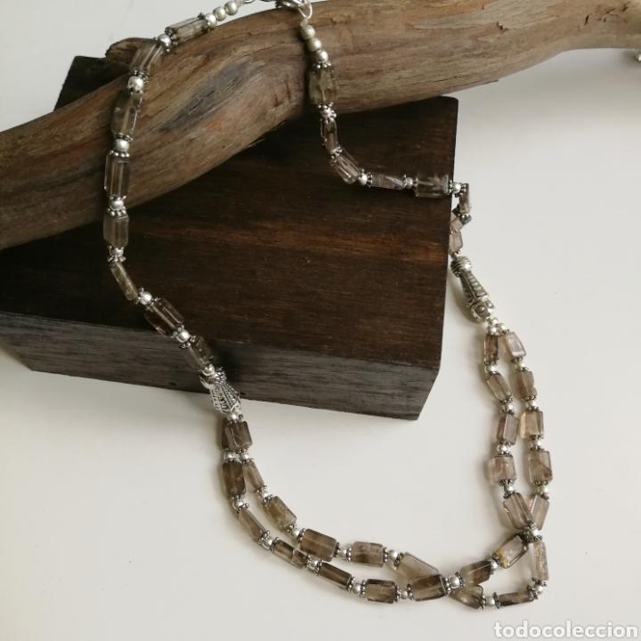 Joyeria: Collar gargantilla con Cuarzos ahumados - 34gr. - Foto 2 - 146104914