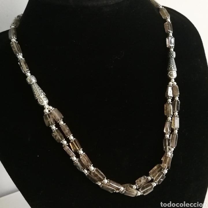 Joyeria: Collar gargantilla con Cuarzos ahumados - 34gr. - Foto 3 - 146104914