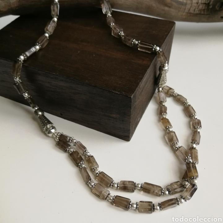 Joyeria: Collar gargantilla con Cuarzos ahumados - 34gr. - Foto 4 - 146104914