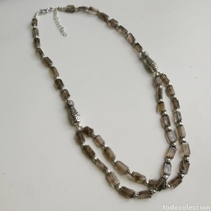 Joyeria: Collar gargantilla con Cuarzos ahumados - 34gr. - Foto 5 - 146104914