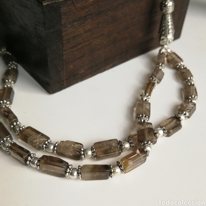Joyeria: Collar gargantilla con Cuarzos ahumados - 34gr. - Foto 6 - 146104914
