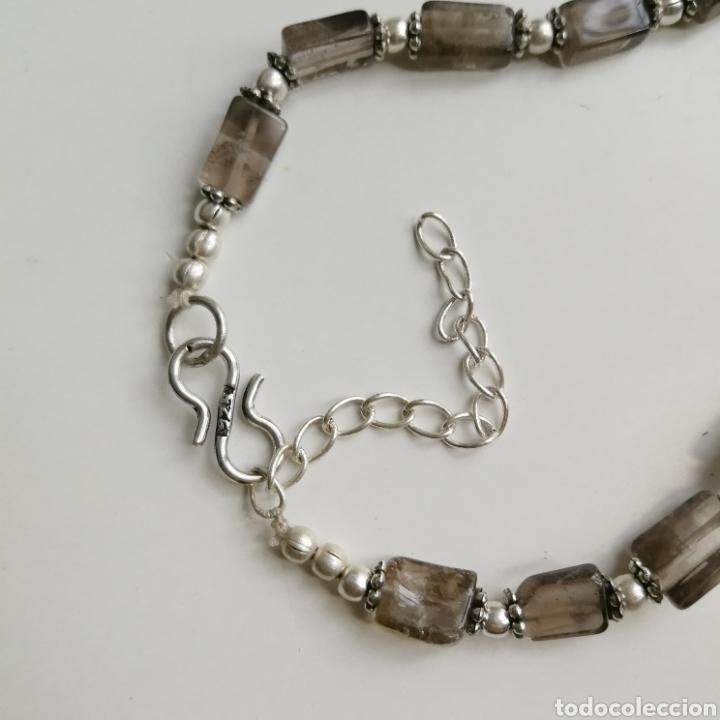 Joyeria: Collar gargantilla con Cuarzos ahumados - 34gr. - Foto 7 - 146104914