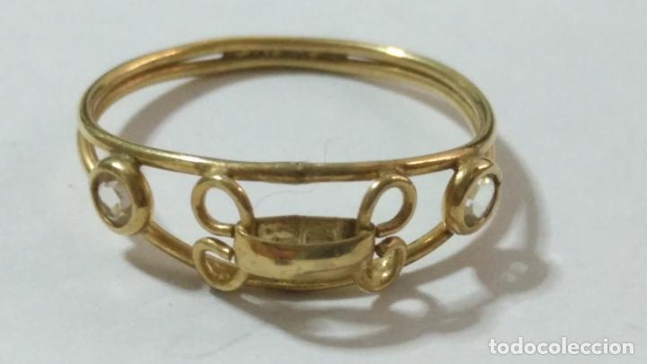 Joyeria: antiguo anillo chapado en oro piedras - nunca usado perteneciente a stock de antigua joyeria cadiz - Foto 2 - 146503750