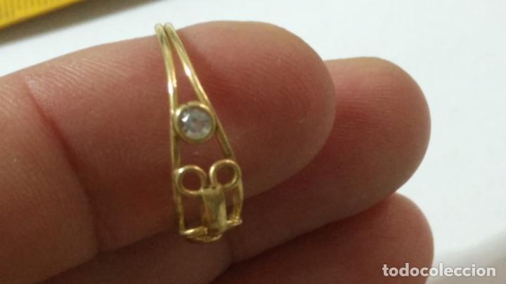 Joyeria: antiguo anillo chapado en oro piedras - nunca usado perteneciente a stock de antigua joyeria cadiz - Foto 4 - 146503750
