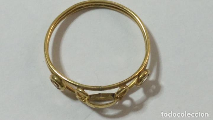 Joyeria: antiguo anillo chapado en oro piedras - nunca usado perteneciente a stock de antigua joyeria cadiz - Foto 5 - 146503750