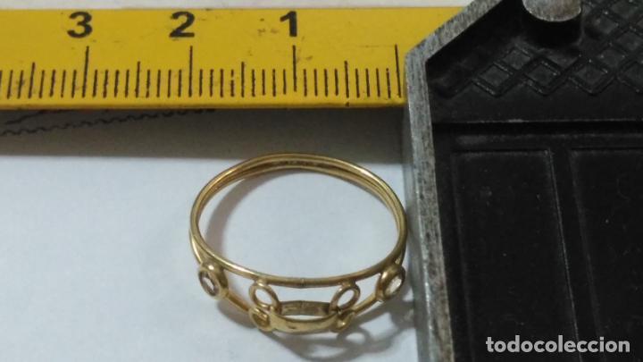 Joyeria: antiguo anillo chapado en oro piedras - nunca usado perteneciente a stock de antigua joyeria cadiz - Foto 6 - 146503750