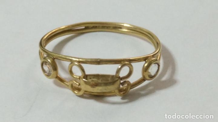 Joyeria: antiguo anillo chapado en oro piedras - nunca usado perteneciente a stock de antigua joyeria cadiz - Foto 7 - 146503750