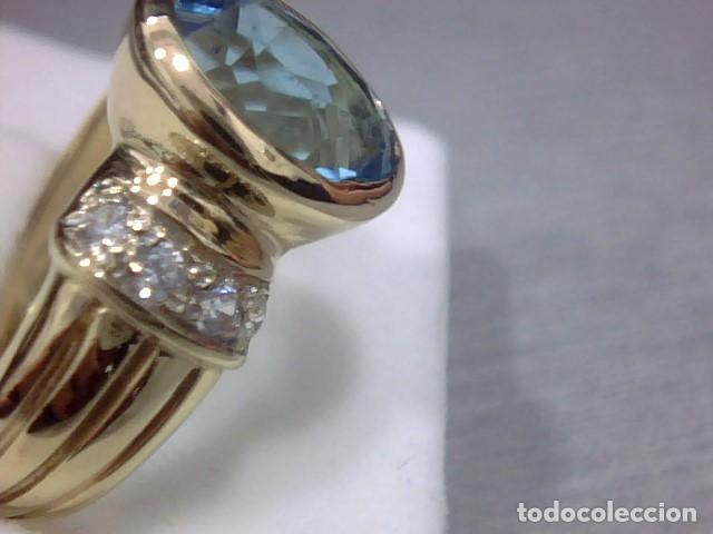 Joyeria: anillo oro 18 kl y topacio - Foto 4 - 146504958