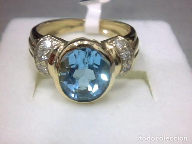 Joyeria: anillo oro 18 kl y topacio - Foto 5 - 146504958