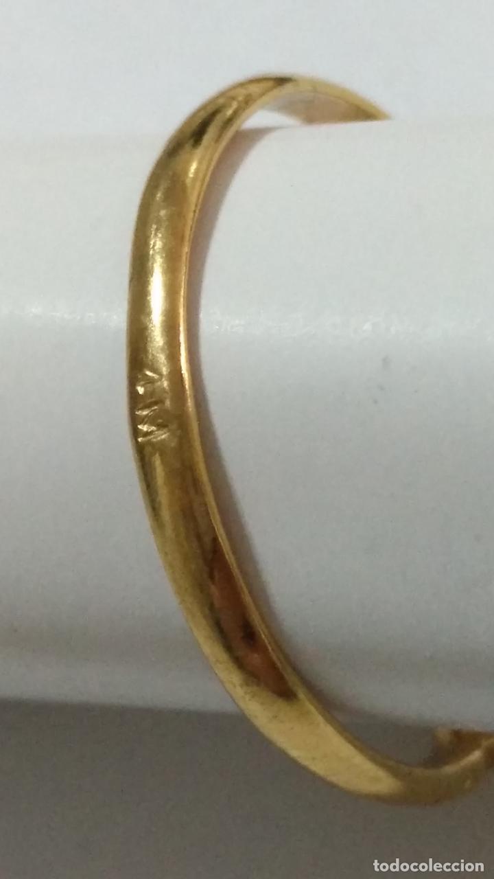 Joyeria: antiguo anillo chapado en oro piedras - nunca usado perteneciente a stock de antigua joyeria cadiz - Foto 2 - 146505146