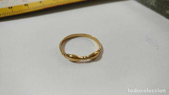 Joyeria: antiguo anillo chapado en oro piedras - nunca usado perteneciente a stock de antigua joyeria cadiz - Foto 3 - 146505146