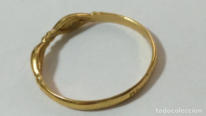 Joyeria: antiguo anillo chapado en oro piedras - nunca usado perteneciente a stock de antigua joyeria cadiz - Foto 8 - 146505146