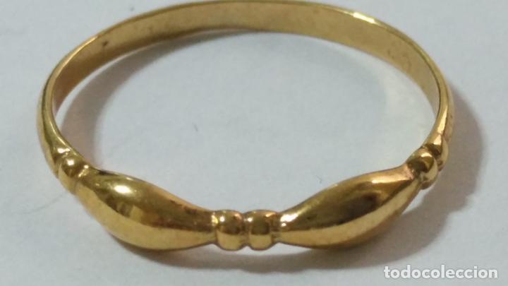 Joyeria: antiguo anillo chapado en oro piedras - nunca usado perteneciente a stock de antigua joyeria cadiz - Foto 10 - 146505146