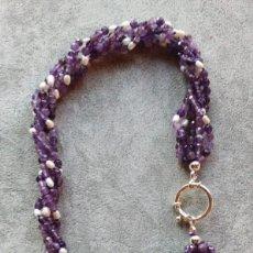 Jewelry - COLLAR DE AMATISTA Y PERLA. - 146564130