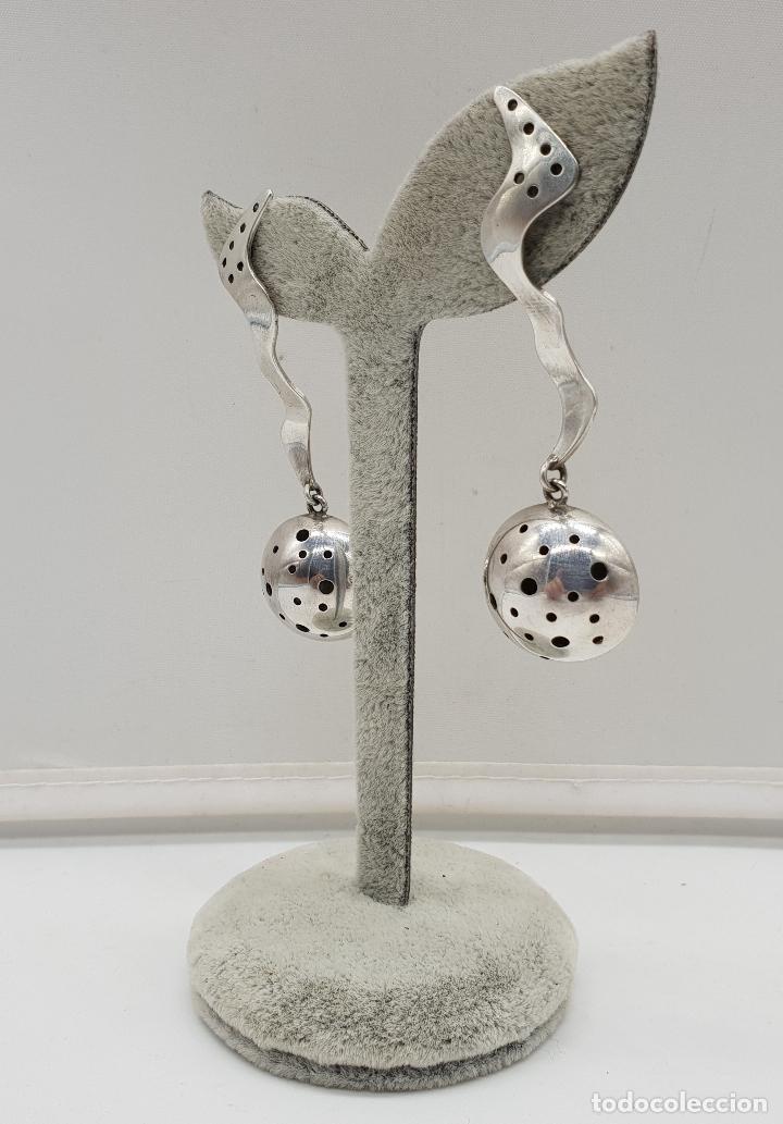 Joyeria: Espectaculares pendientes de diseño exclusivo en plata de ley . - Foto 2 - 146626010