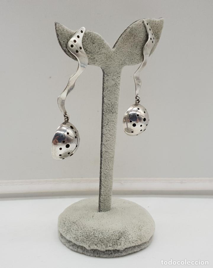 Joyeria: Espectaculares pendientes de diseño exclusivo en plata de ley . - Foto 4 - 146626010