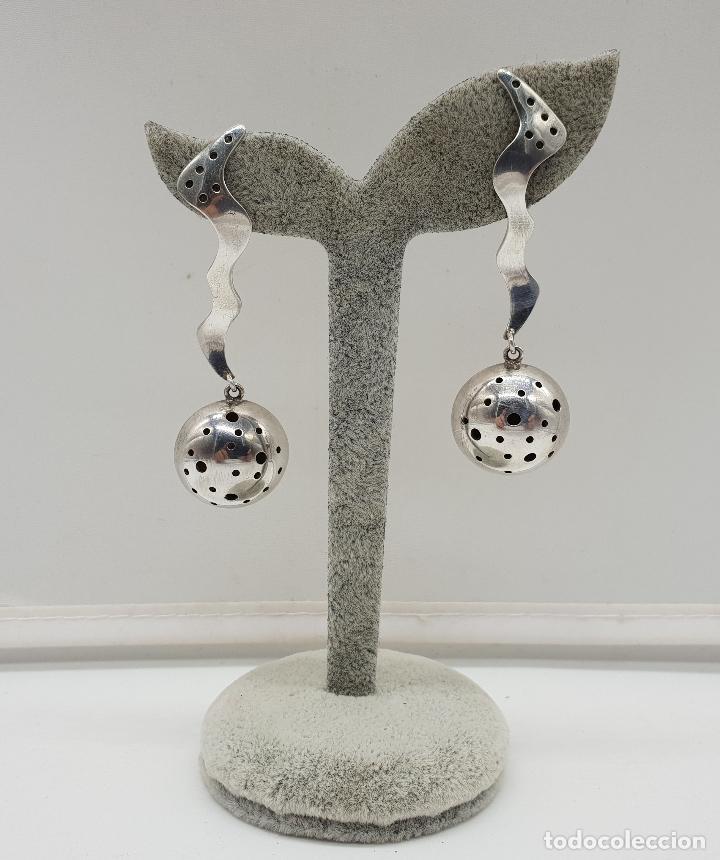 Joyeria: Espectaculares pendientes de diseño exclusivo en plata de ley . - Foto 5 - 146626010
