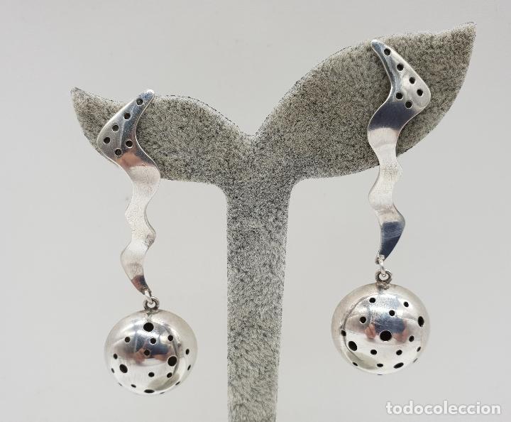 Joyeria: Espectaculares pendientes de diseño exclusivo en plata de ley . - Foto 6 - 146626010