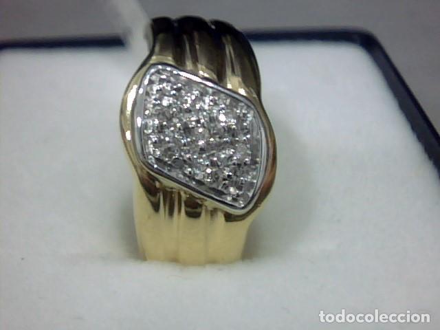 Joyeria: anillo oro 18 kl y diamantes - Foto 2 - 146868210